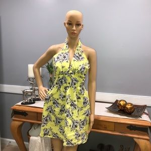 Forever 21 Contemporary Yellow Floral Dress M/M